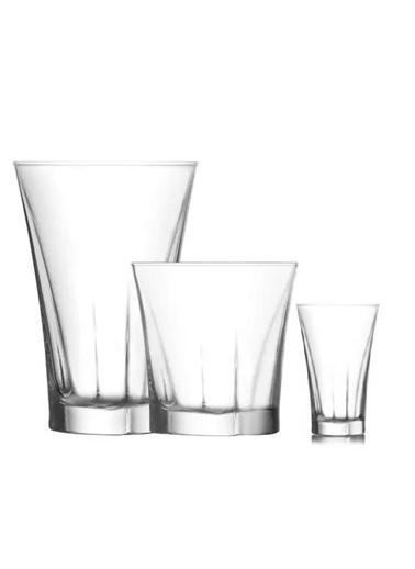 Lav Truva Su Bardağı Takımı Seti - 18 Prç. Su Meşrubat Bardağı Renkli